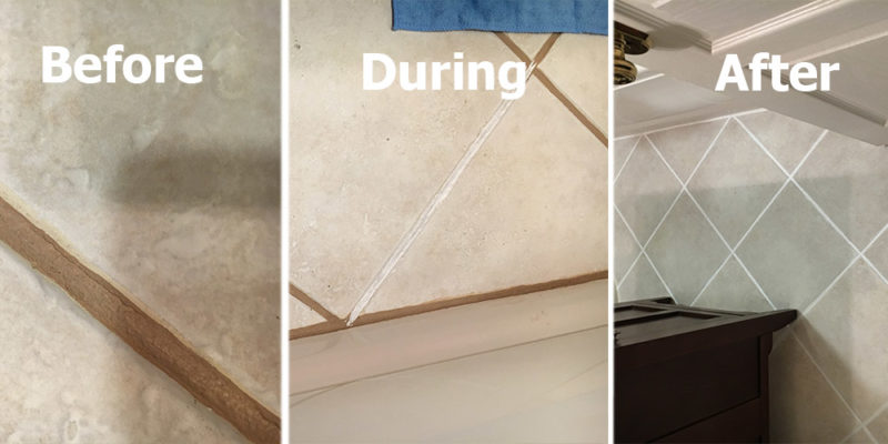 tile grout color sealing by The Grout Medic