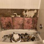grout medic bathtub before