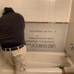 grout medic bathtub during